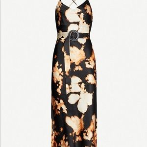 Topshop Dresses - Topshop tie dye belted slip midi dress 2 US